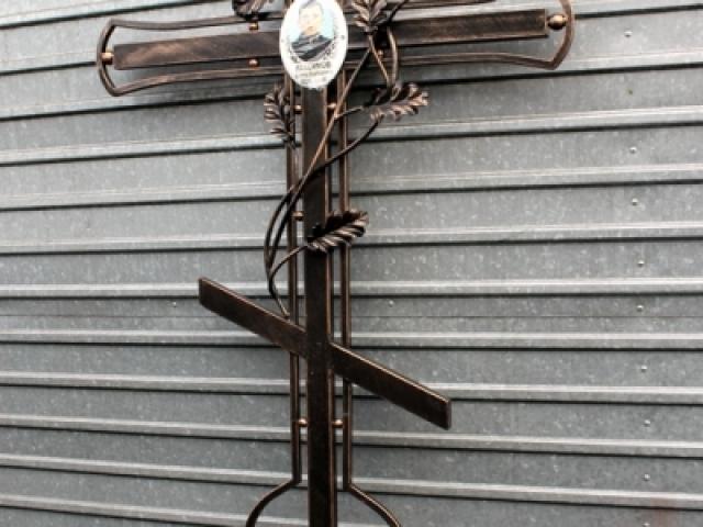 Крест ритуальный кованый.
