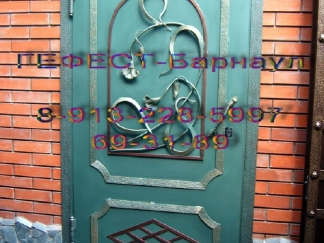 Дверь кованая